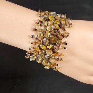 Kenyan Beaded and Stone Bracelet/Ring